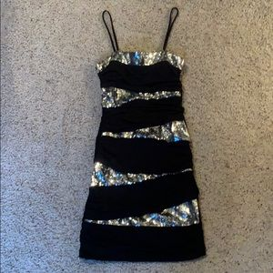 Little black dress party prom sequins